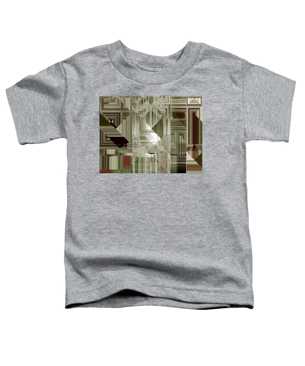 Abstract Toddler T-Shirt featuring the painting Indecision I by RC DeWinter