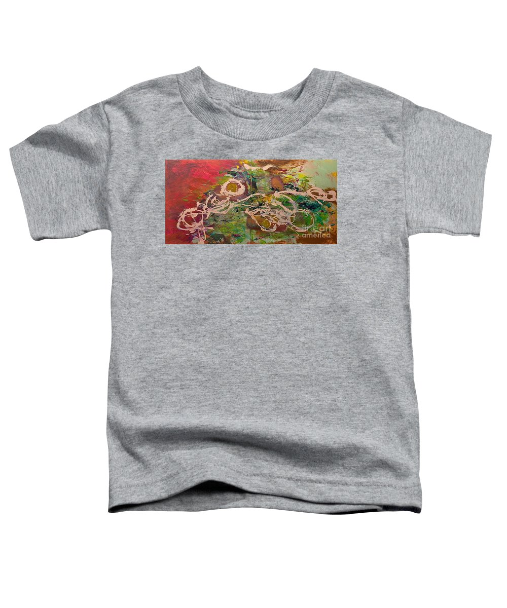 Landscape Toddler T-Shirt featuring the painting Journey Forth by Allan P Friedlander