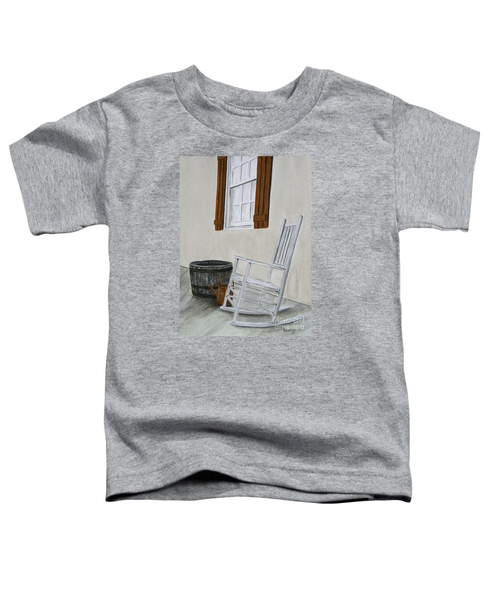 Americana Toddler T-Shirt featuring the painting Lazy Day by Regan J Smith