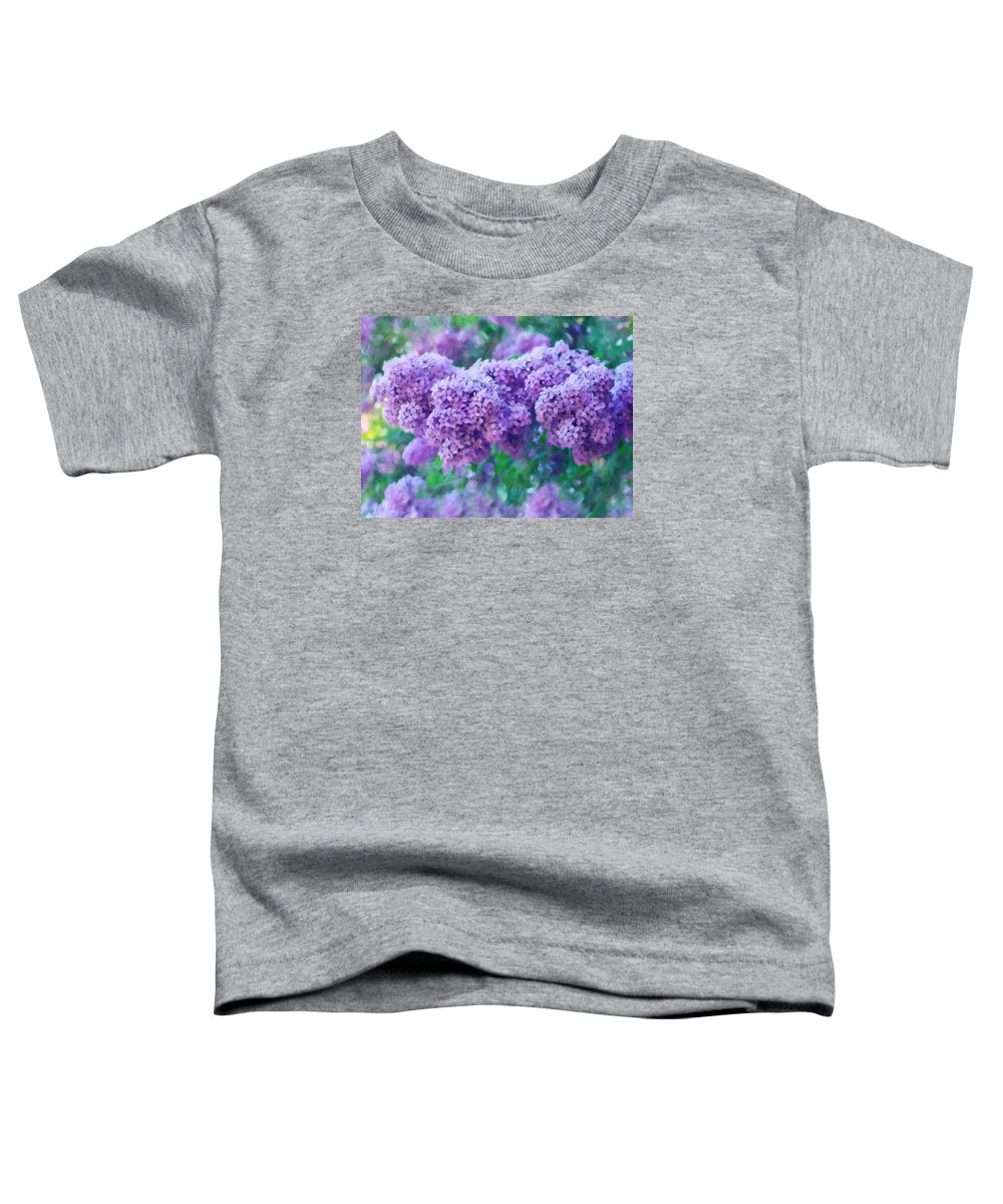 Impressionism Toddler T-Shirt featuring the mixed media Lilac Cadenza by Georgiana Romanovna