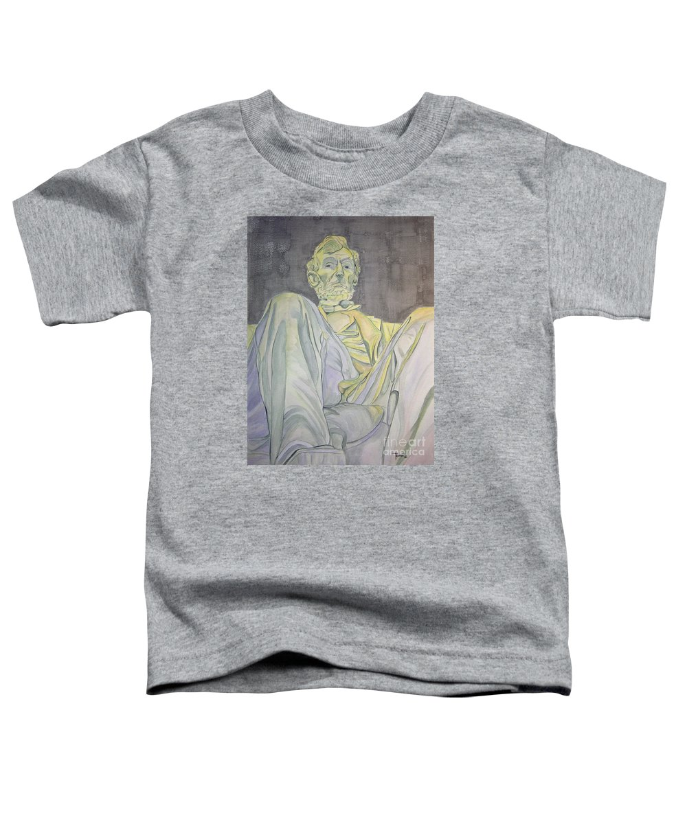 Presidents Toddler T-Shirt featuring the painting Lincoln by Regan J Smith