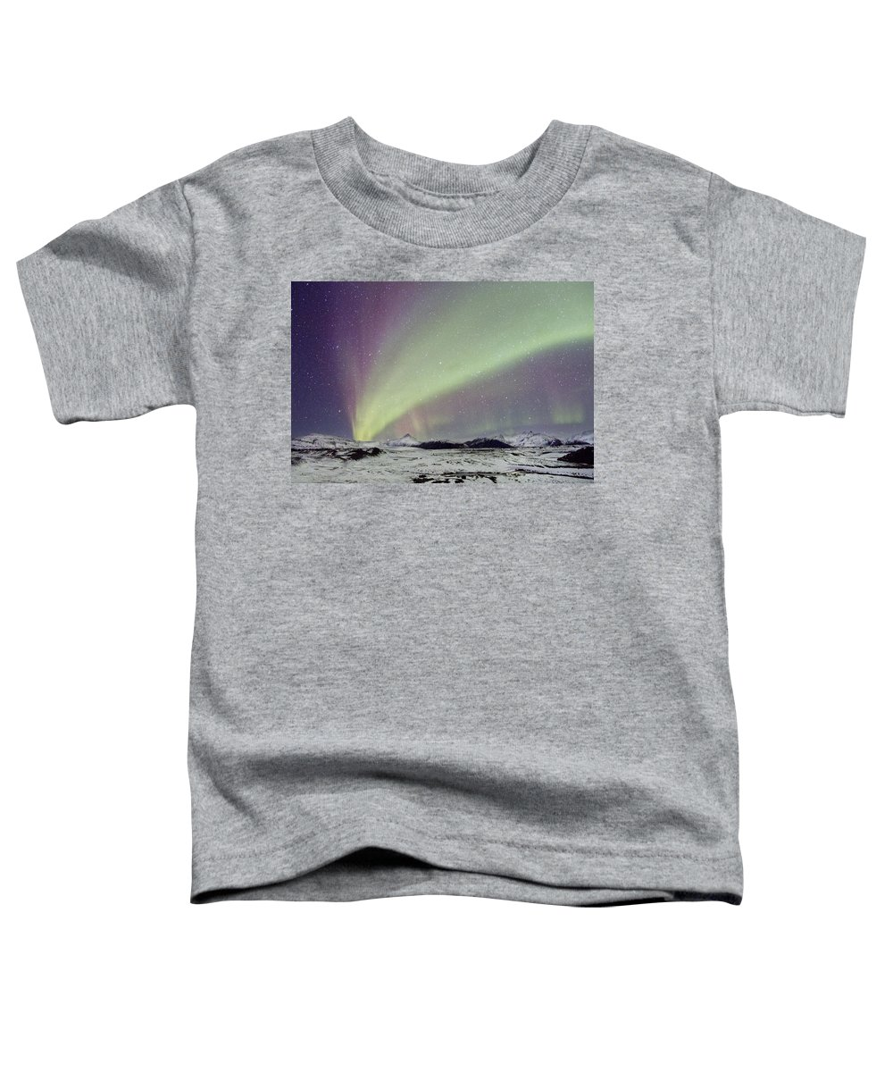 Aurora Toddler T-Shirt featuring the photograph Magical Night by Evelina Kremsdorf