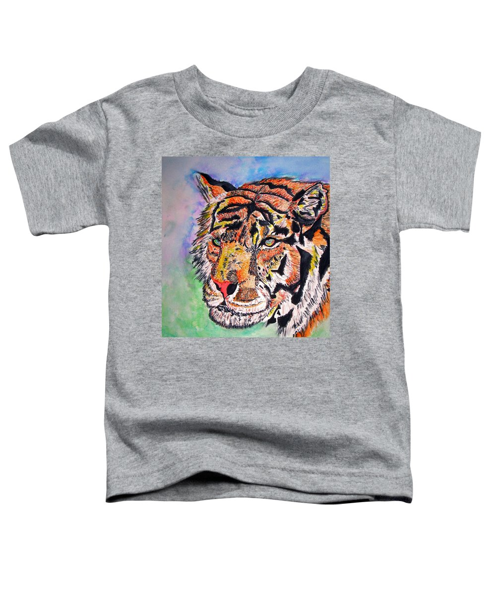 Abstract Toddler T-Shirt featuring the painting Paradise Dream by Crystal Hubbard