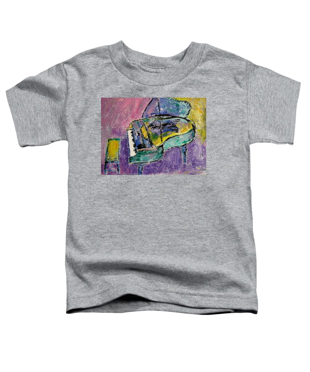 Impressionist Toddler T-Shirt featuring the painting Piano Green by Anita Burgermeister