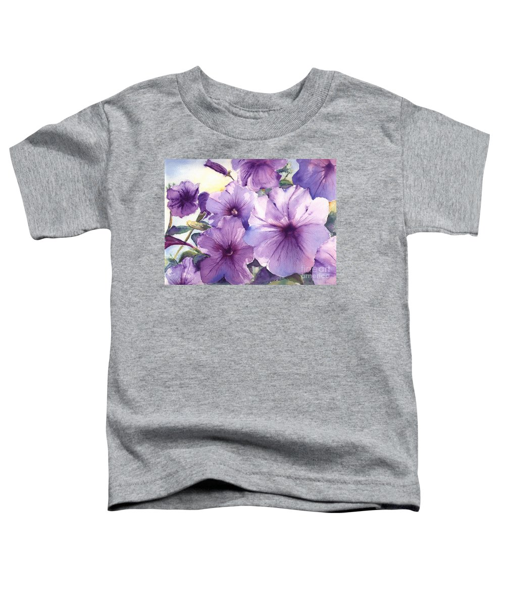 Purple Toddler T-Shirt featuring the painting Purple Profusion by Patricia Henderson