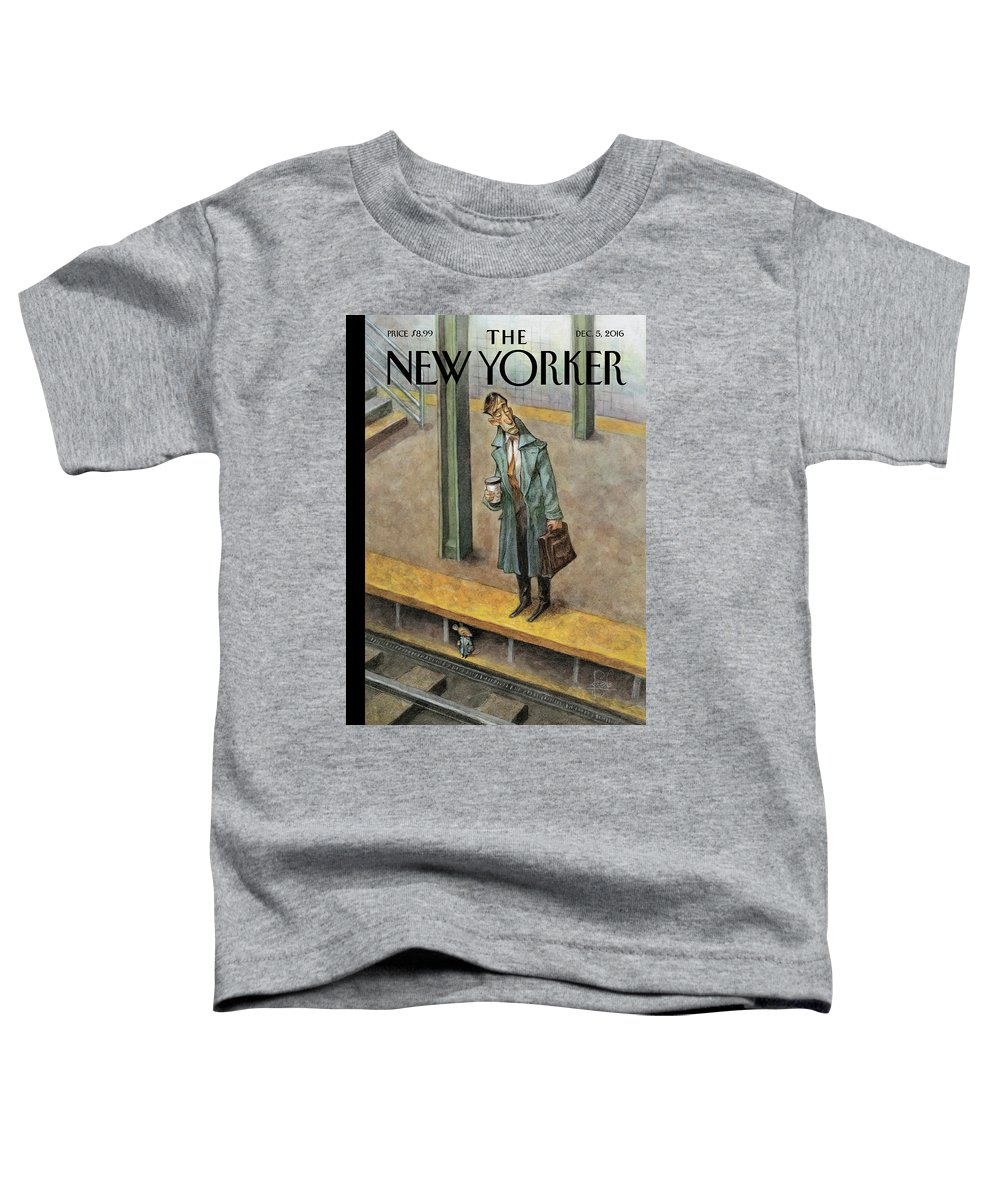 Mice Toddler T-Shirt featuring the painting Rat Race by Peter de Seve