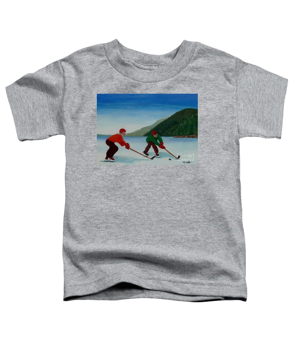Pond Toddler T-Shirt featuring the painting Reach For It by Anthony Dunphy