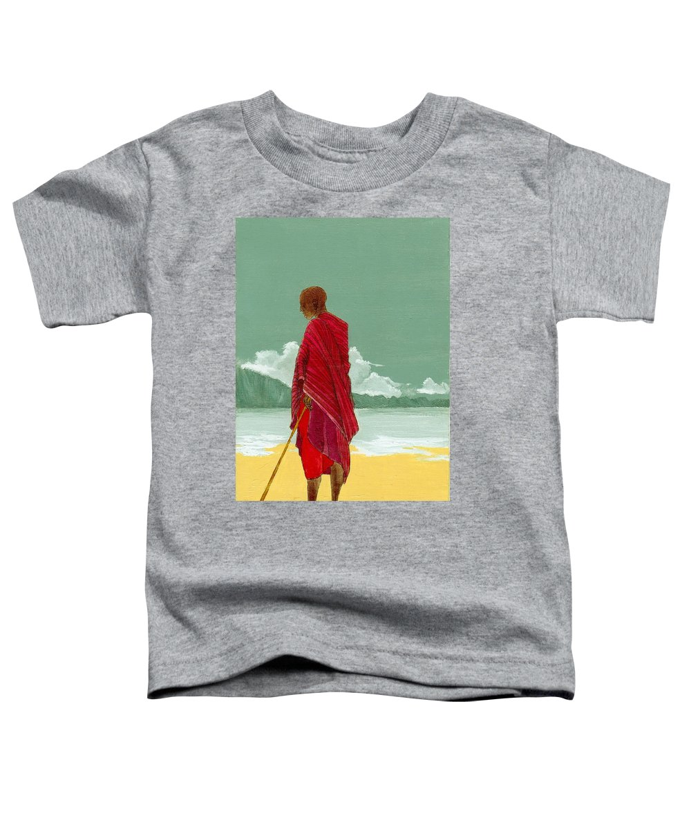 Figurative Painting Toddler T-Shirt featuring the painting Reverence by Edith Peterson-Watson