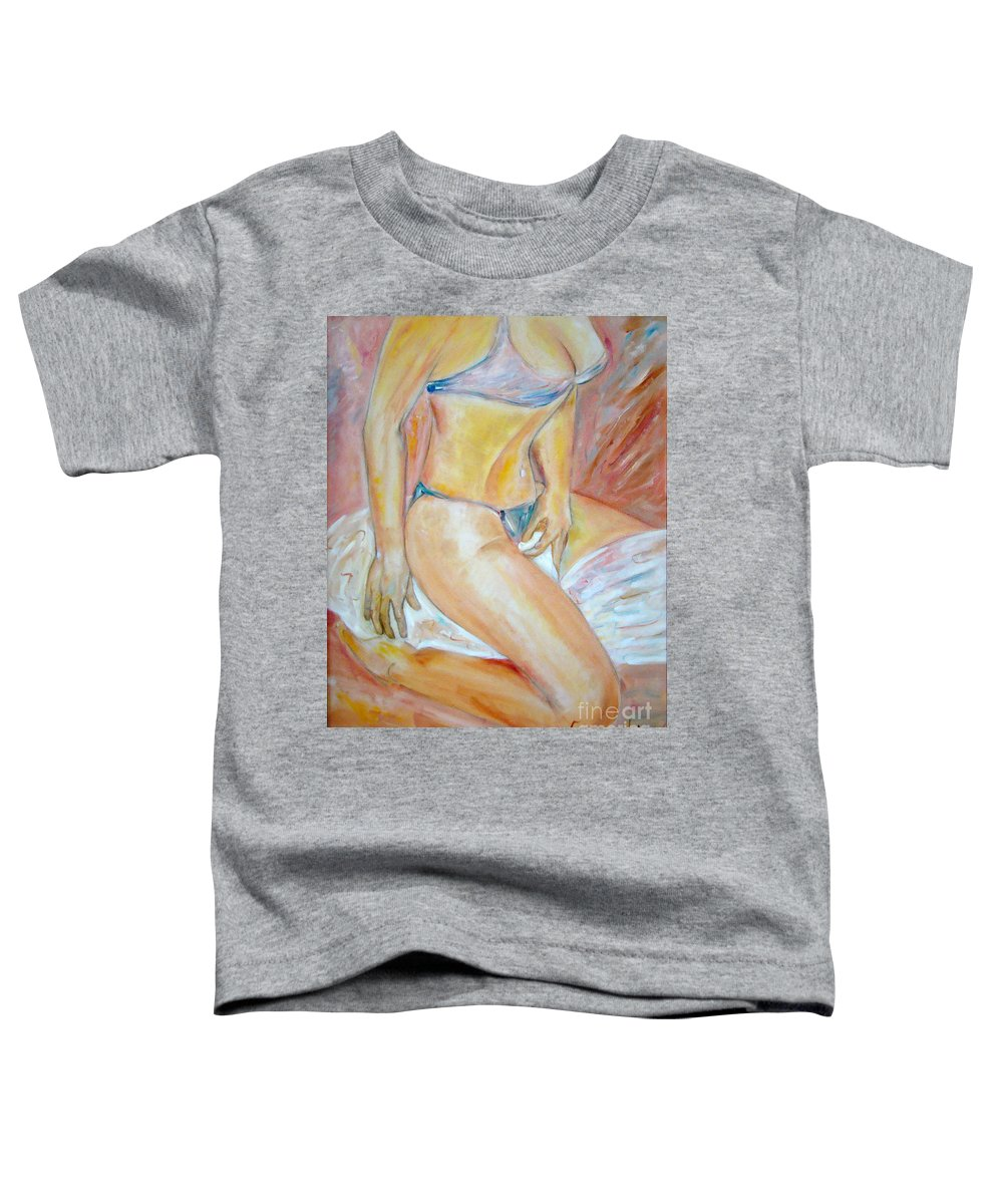 Contemporary Art Toddler T-Shirt featuring the painting Sensual by Silvana Abel