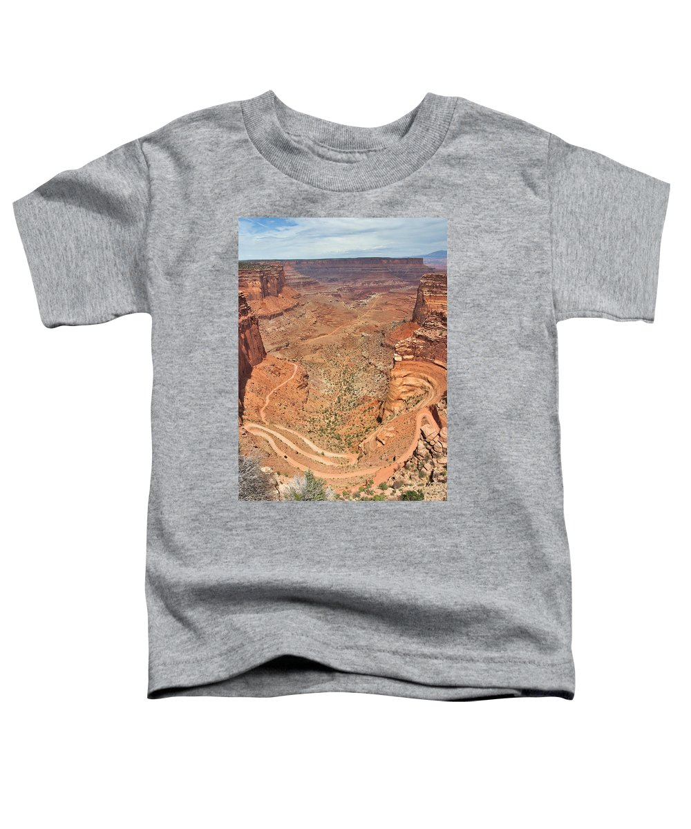 3scape Toddler T-Shirt featuring the photograph Shafer Trail by Adam Romanowicz