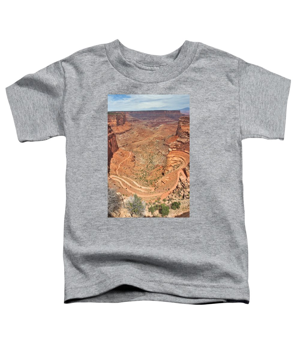 3scape Photos Toddler T-Shirt featuring the photograph Shafer Trail by Adam Romanowicz