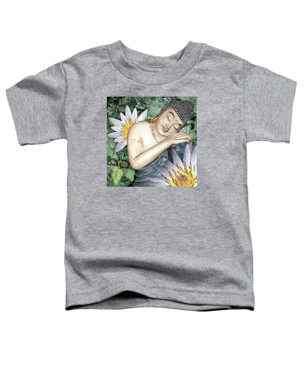 Buddha Toddler T-Shirt featuring the digital art Spring Serenity by Christopher Beikmann