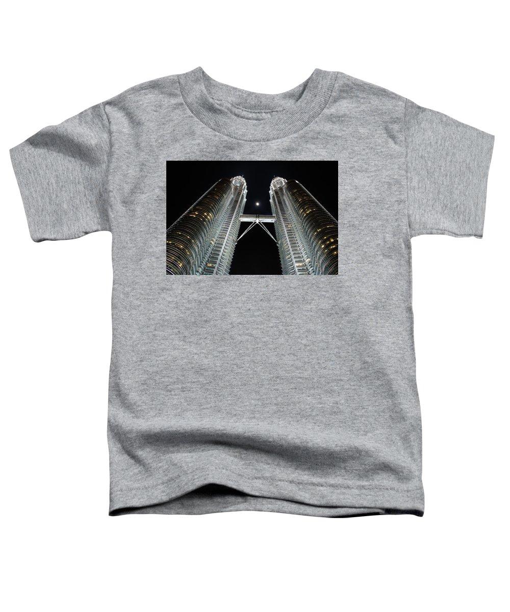 Georgia Mizuleva Toddler T-Shirt featuring the photograph Stainless Steel Moon by Georgia Mizuleva