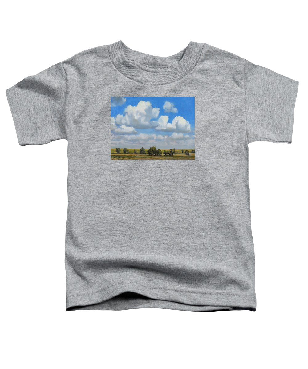 Landscape Toddler T-Shirt featuring the painting Summer Pasture by Bruce Morrison