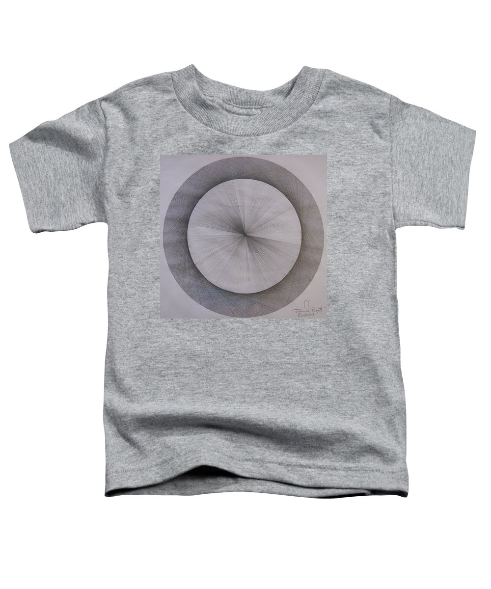 Pi Toddler T-Shirt featuring the drawing The Shape Of Pi by Jason Padgett