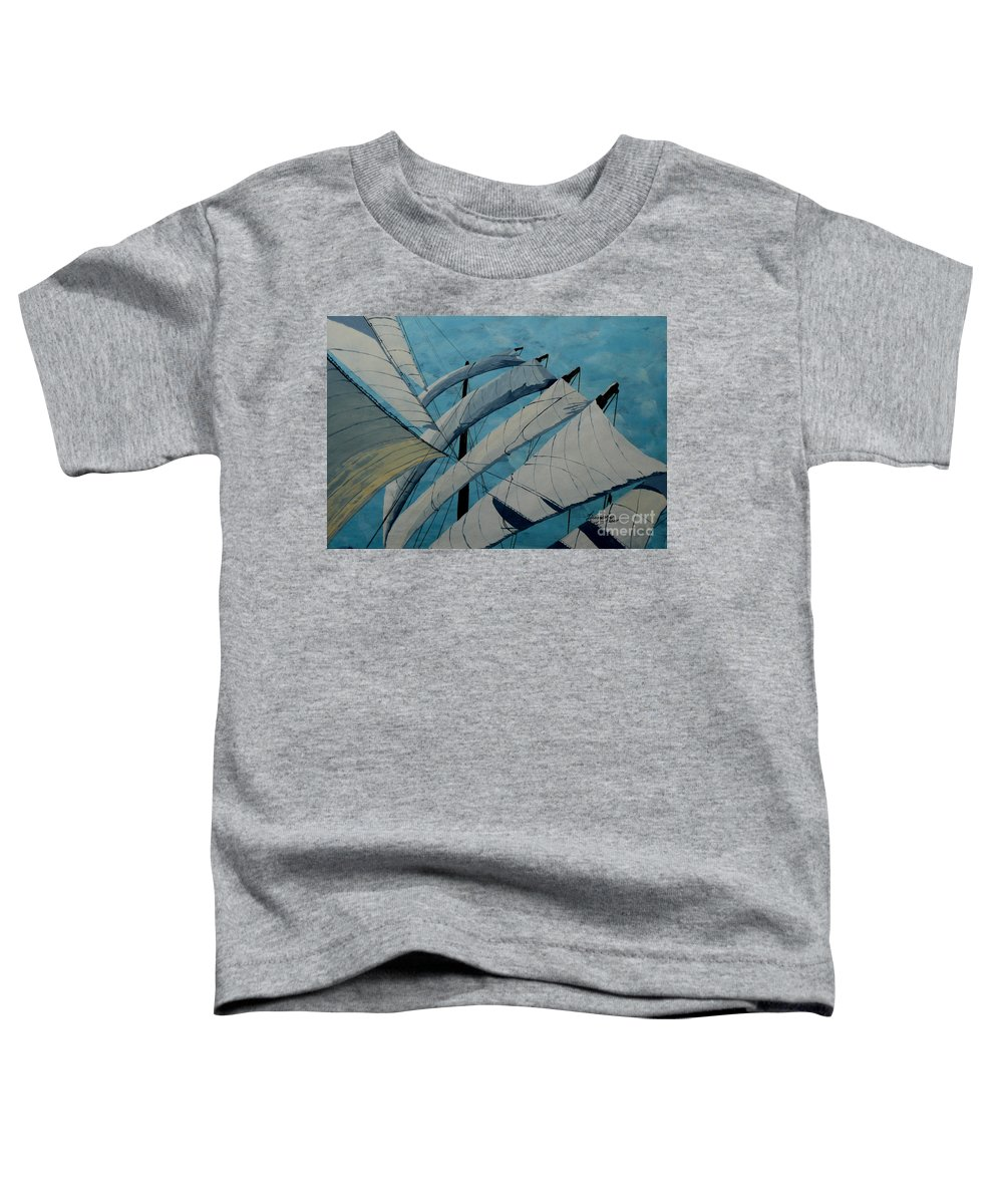 Sails Toddler T-Shirt featuring the painting The Tower Of Power by Anthony Dunphy