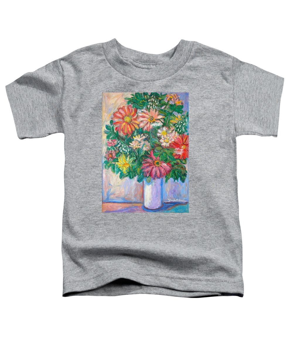 Still Life Toddler T-Shirt featuring the painting The White Vase by Kendall Kessler