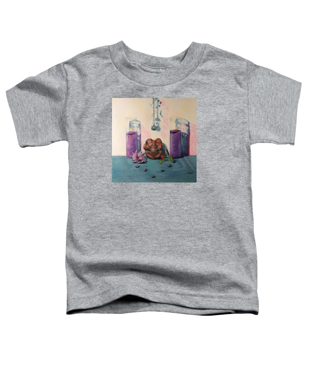 Mourning Toddler T-Shirt featuring the painting They Are Gone We Are Here by Shelley Irish