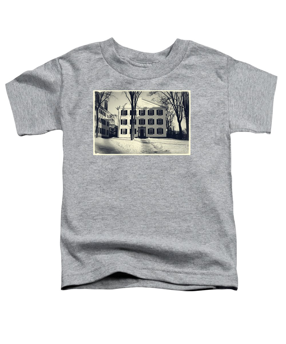 Dartmouth Toddler T-Shirt featuring the photograph Thornton Hall Dartmouth College by Edward Fielding