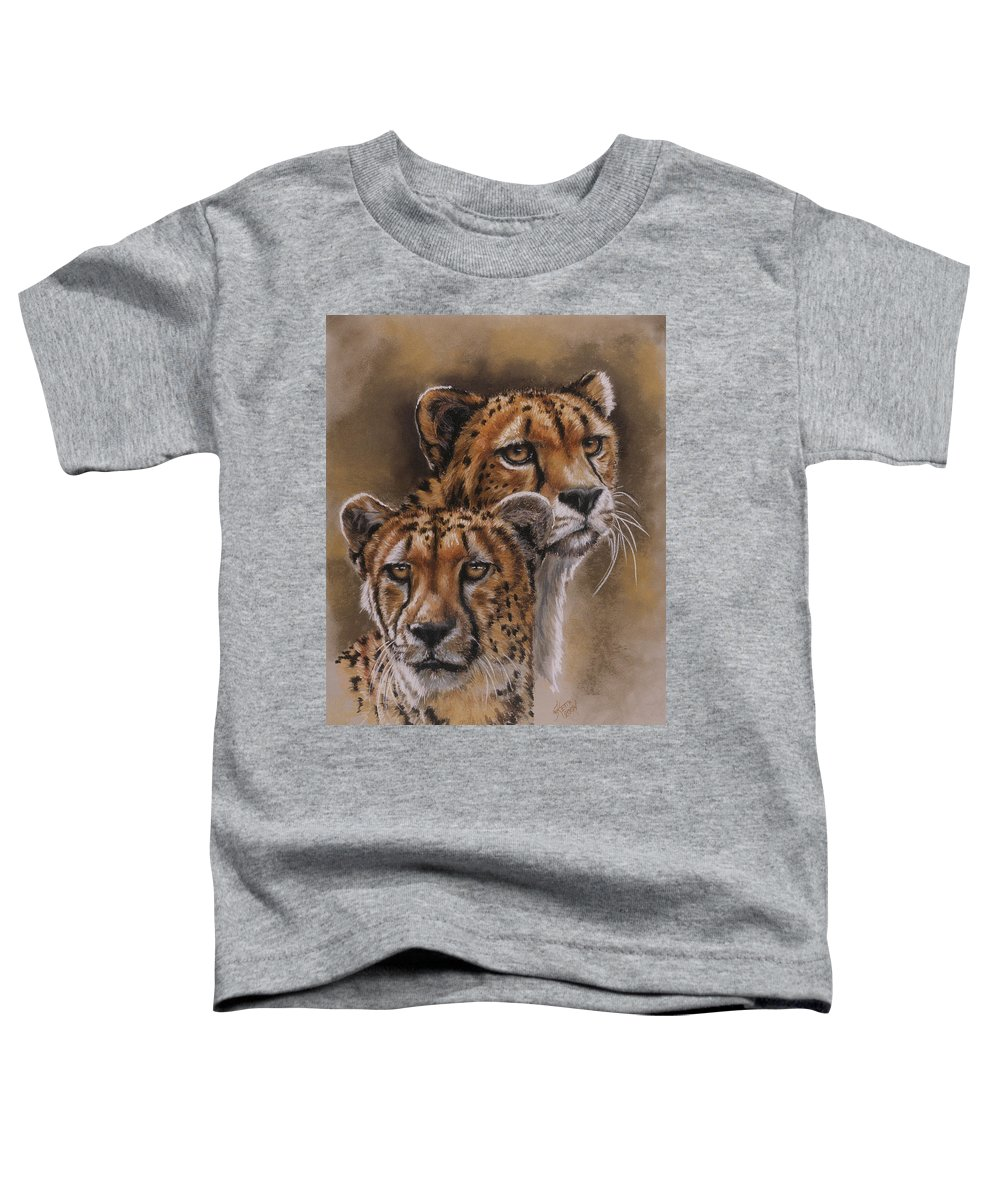 Cheetah Toddler T-Shirt featuring the pastel Twins by Barbara Keith