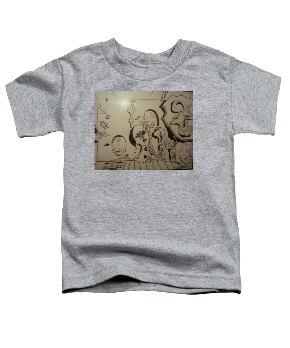 Toddler T-Shirt featuring the drawing Untitled by Jude Darrien