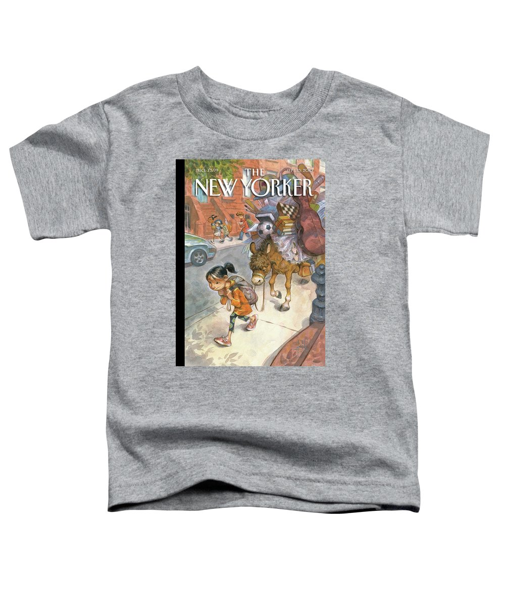 Donkey Toddler T-Shirt featuring the painting New Yorker September 13th, 2010 by Peter de Seve