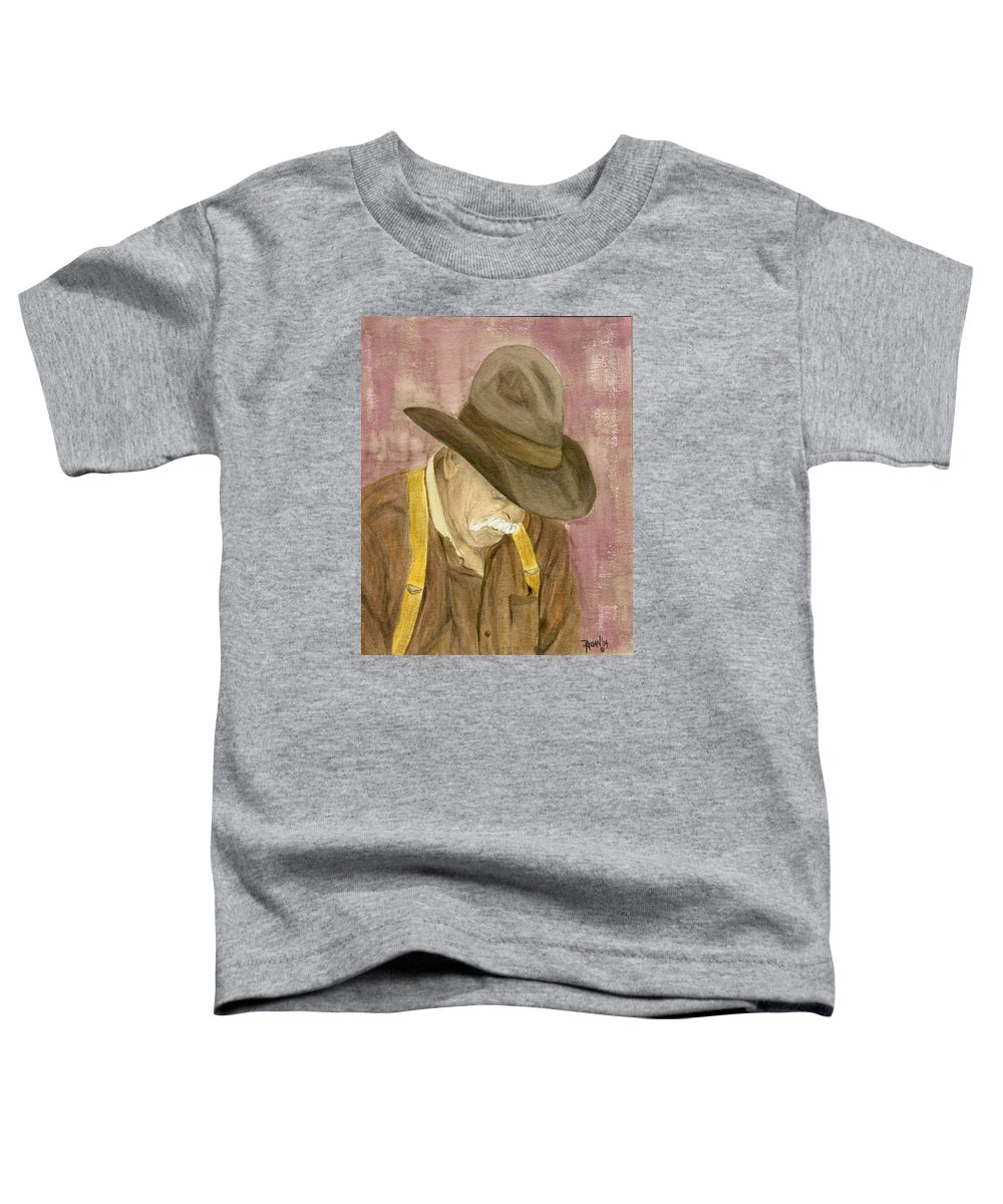 Western Toddler T-Shirt featuring the painting Walter by Regan J Smith