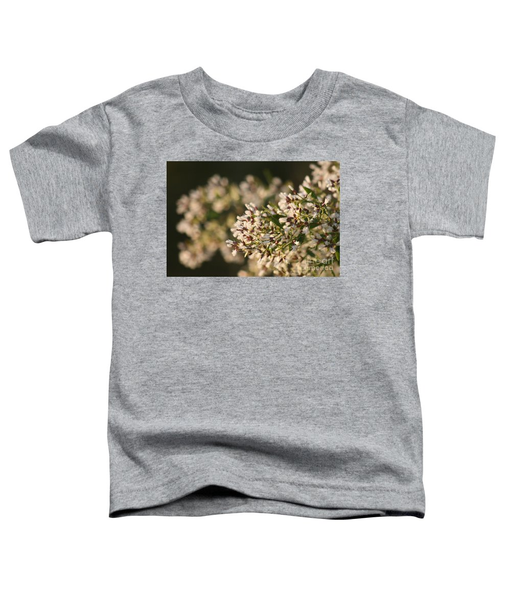White Toddler T-Shirt featuring the photograph White Flowers by Nadine Rippelmeyer
