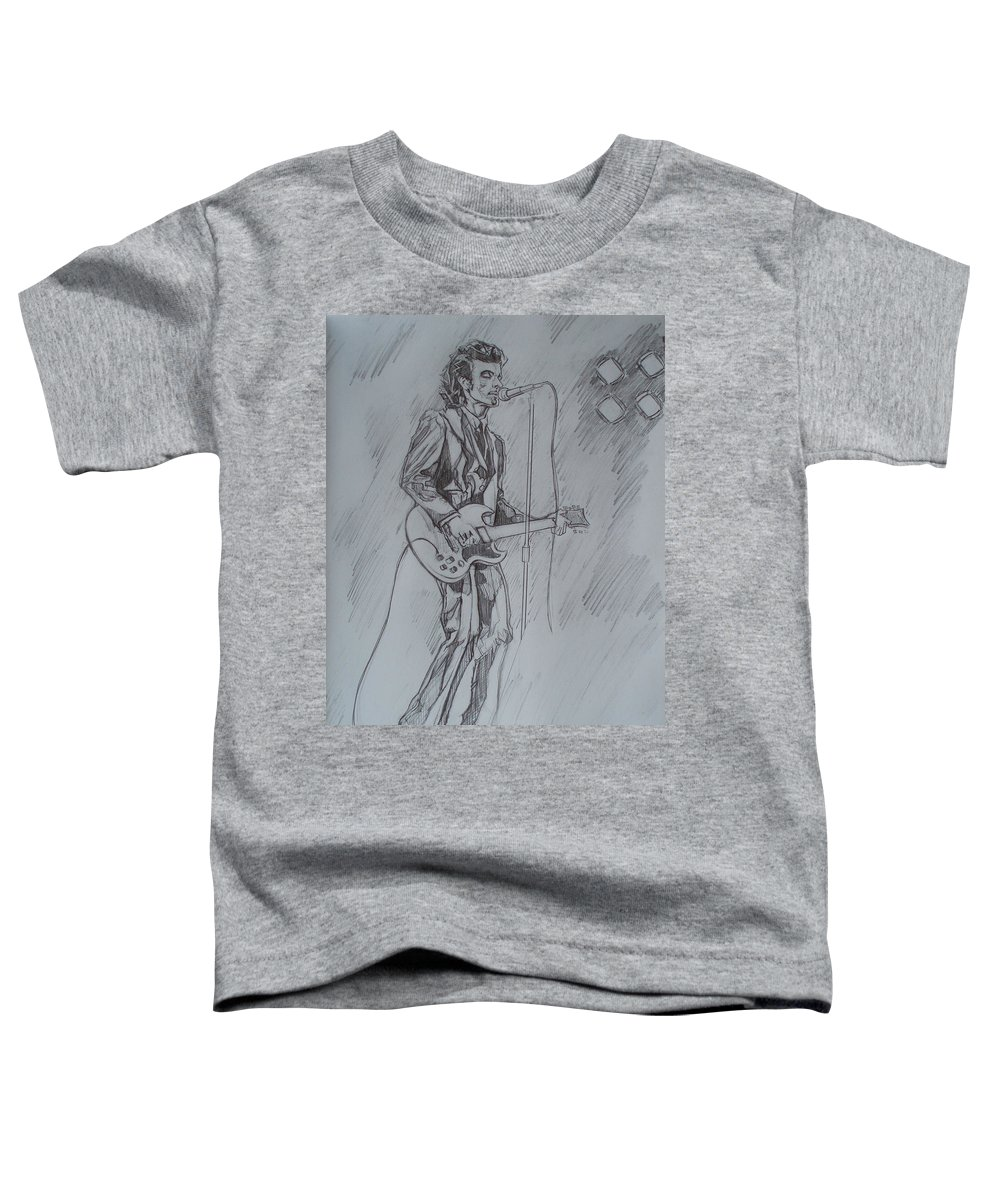 Pencil Toddler T-Shirt featuring the drawing Mink Deville - Steady Drivin' Man by Sean Connolly