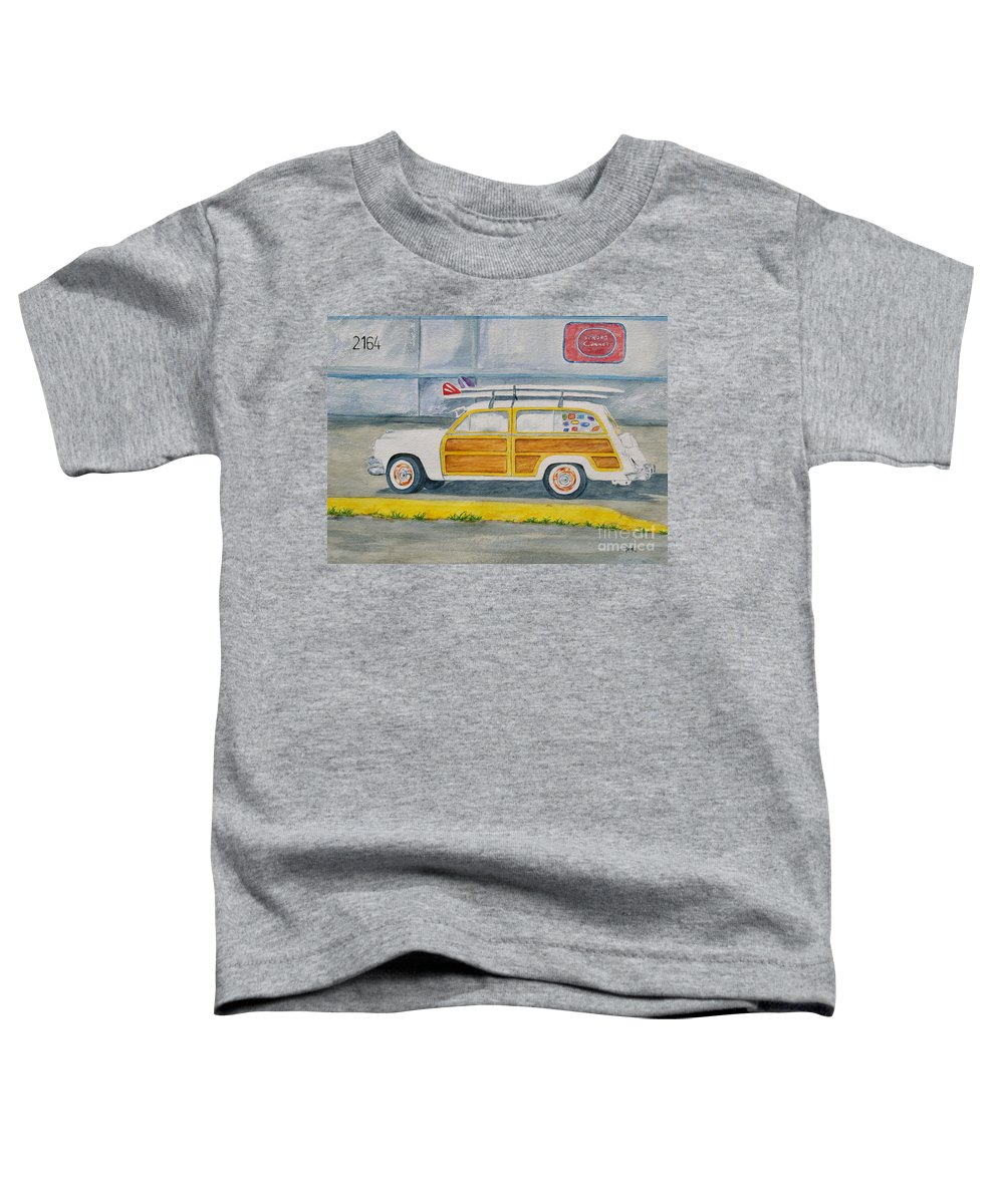 Woody Paintings Toddler T-Shirt featuring the painting Woody by Regan J Smith