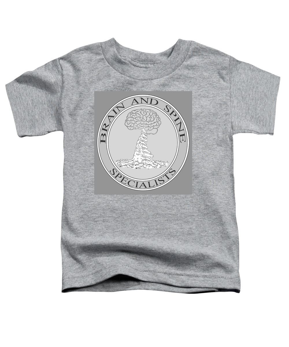 Brain Toddler T-Shirt featuring the digital art Brain and Spine Specialist by Robert Fenwick May Jr