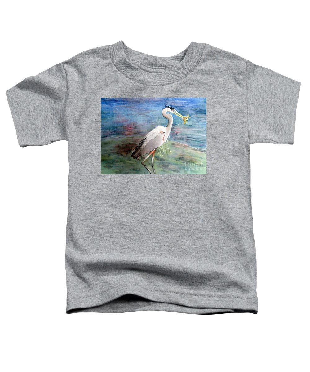 Great Toddler T-Shirt featuring the painting Lunchtime Watercolour by Laurel Best