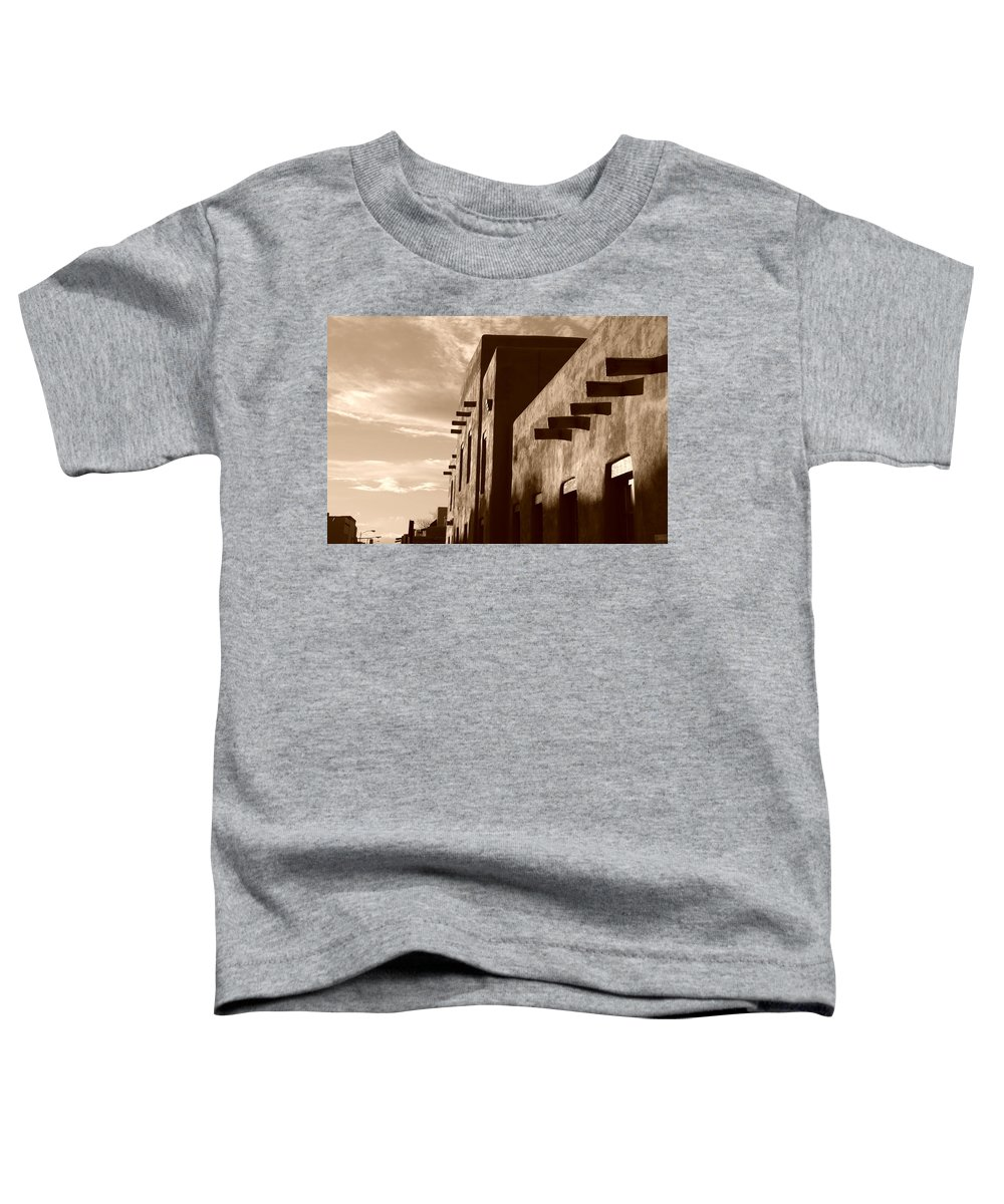 Architecture Toddler T-Shirt featuring the photograph Adobe Sunset by Rob Hans