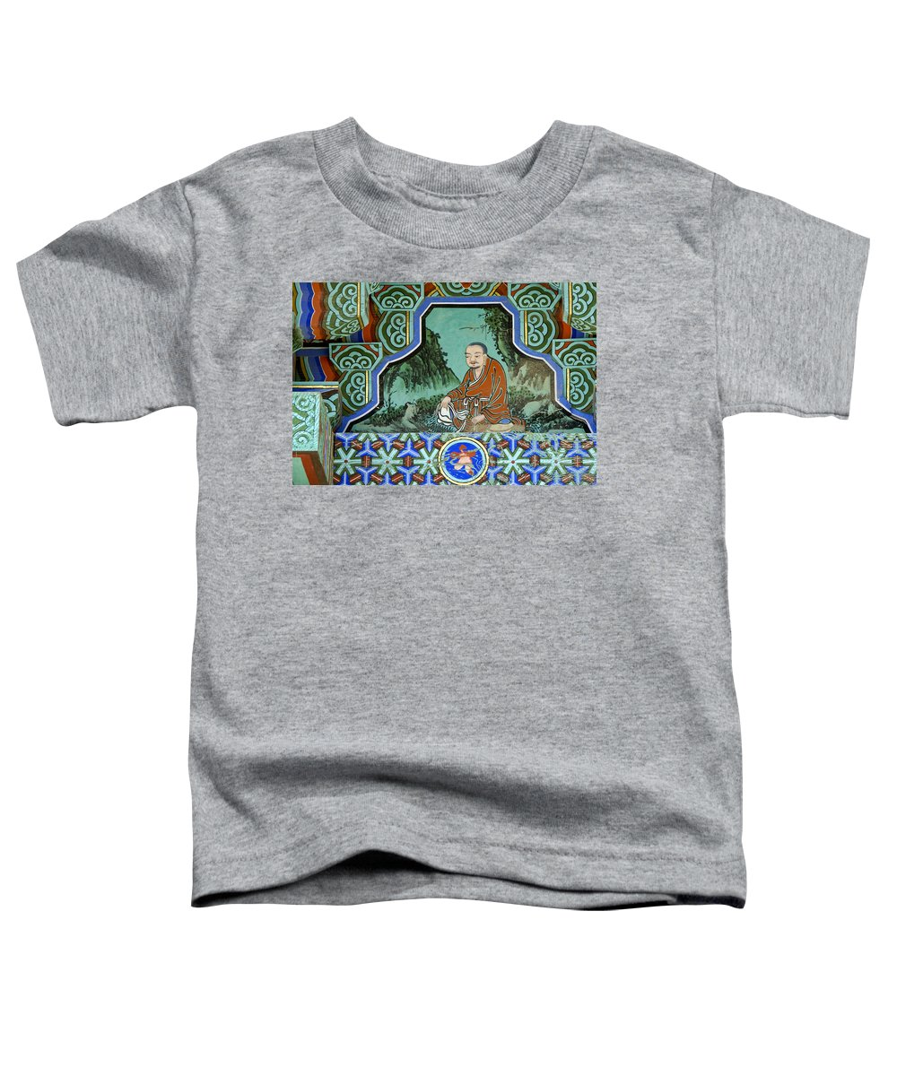 Buddha Toddler T-Shirt featuring the photograph Buddhist Temple Art by Michele Burgess