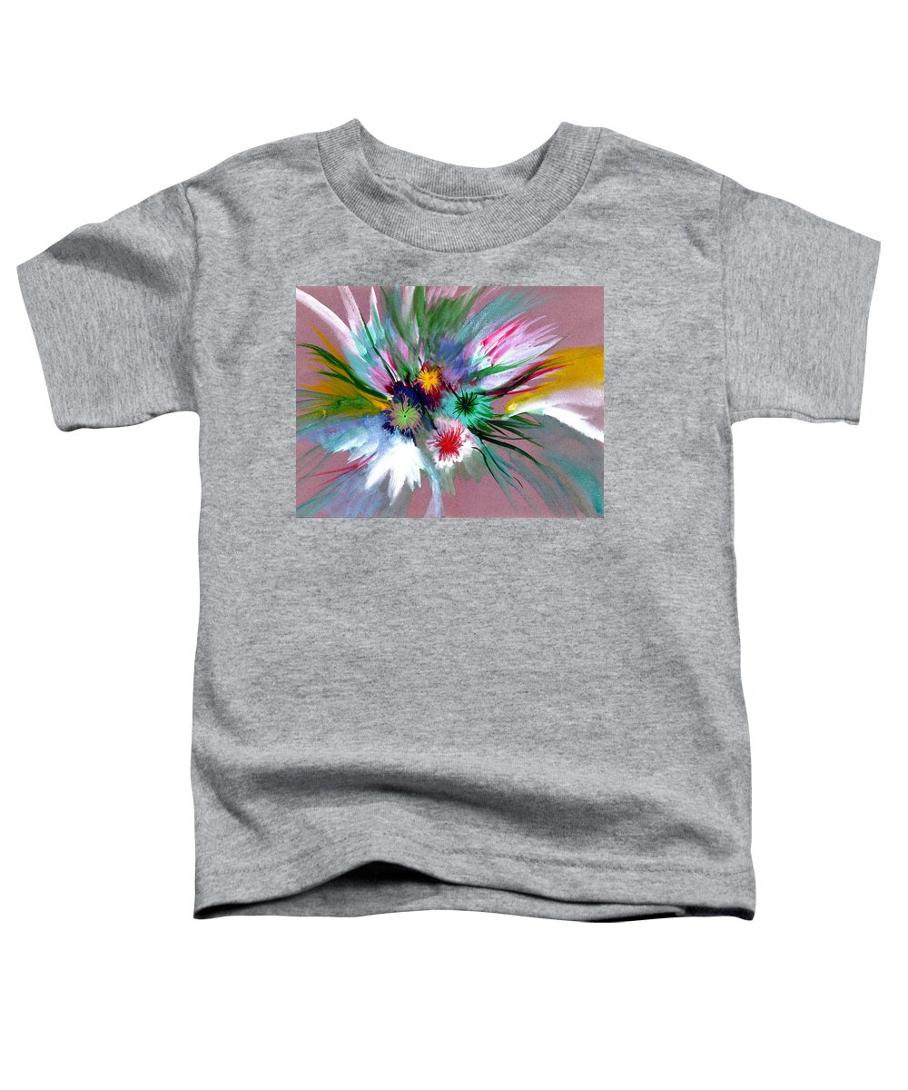 Flowers Toddler T-Shirt featuring the painting Flowers by Anil Nene