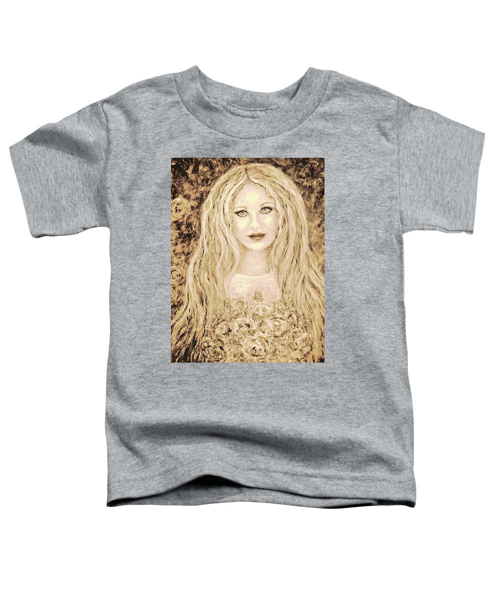 Portrait Toddler T-Shirt featuring the painting Flowers For You by Natalie Holland
