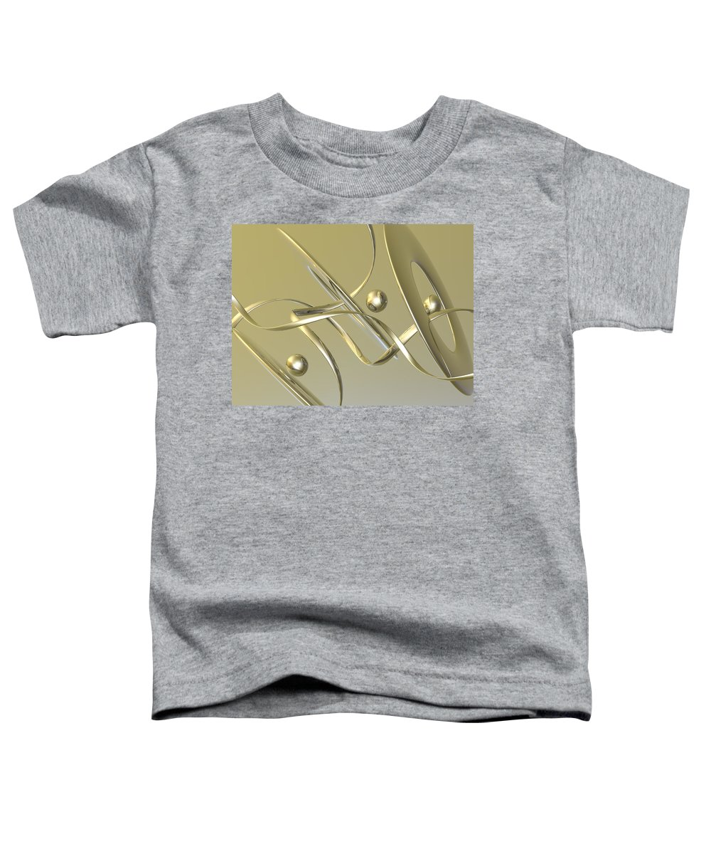 Scott Piers Toddler T-Shirt featuring the painting Gold by Scott Piers