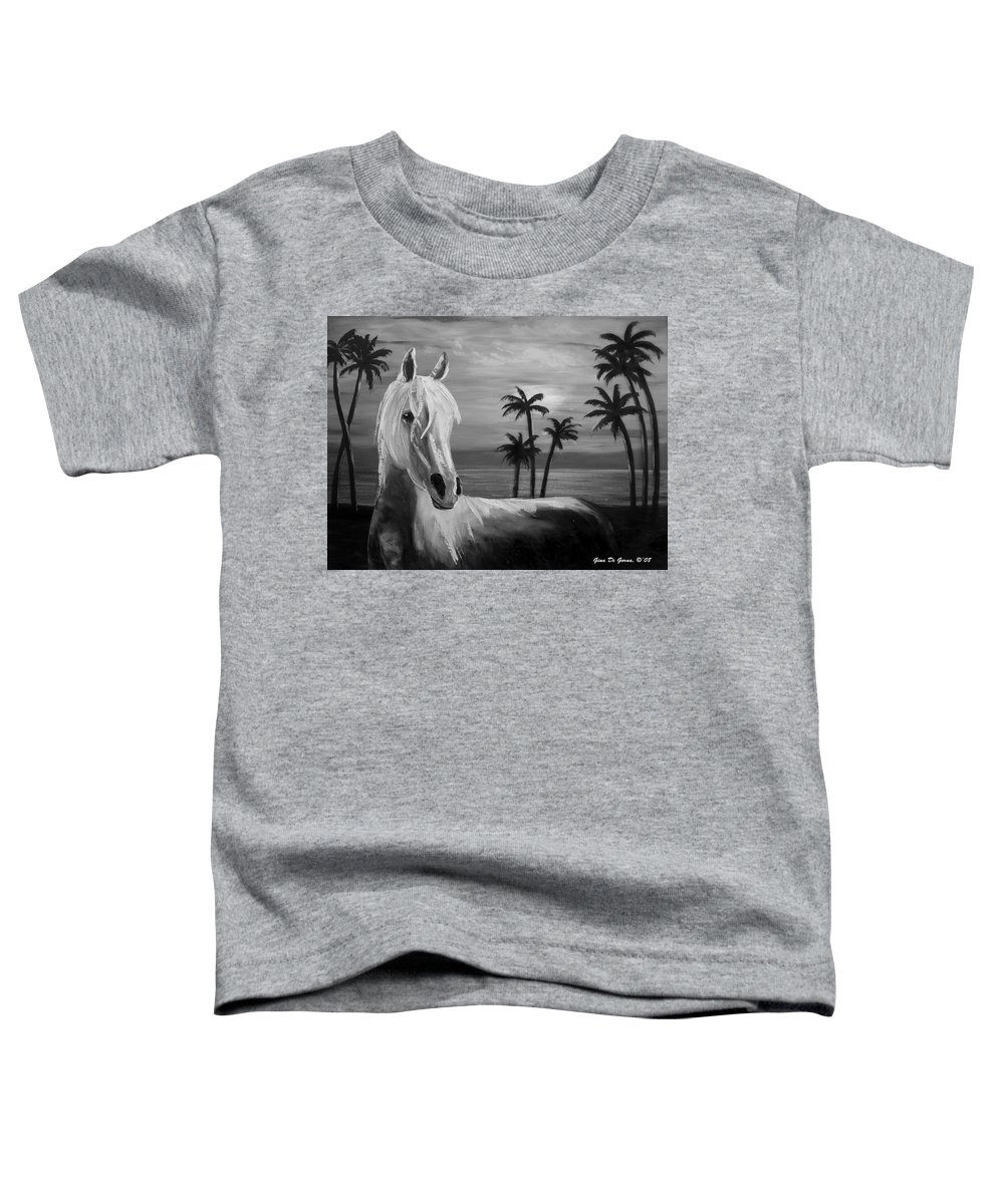 Horses Toddler T-Shirt featuring the painting Horses In Paradise Tell Me Your Dream by Gina De Gorna
