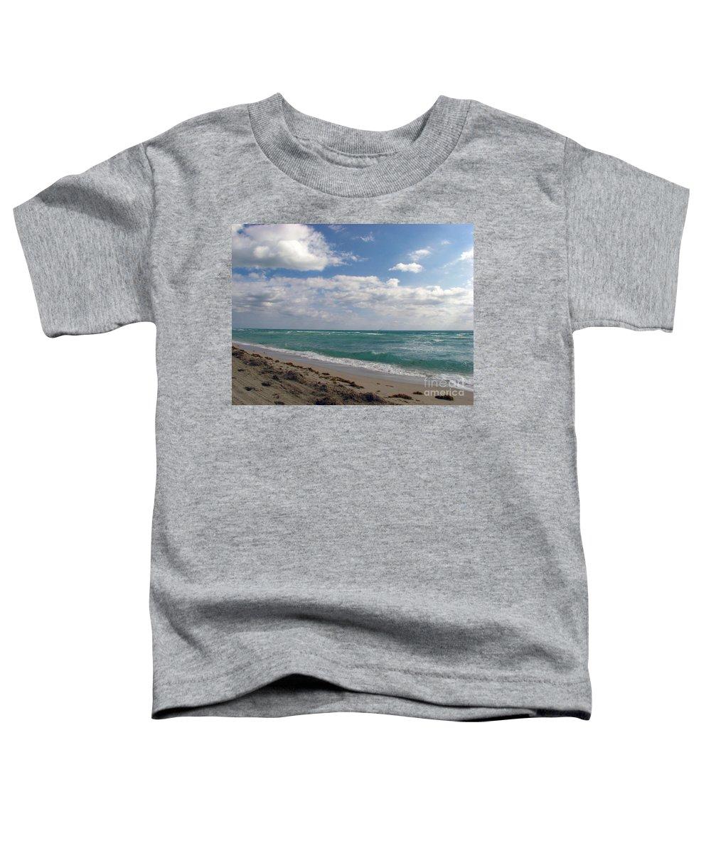 Miami Beach Toddler T-Shirt featuring the photograph Miami Beach by Amanda Barcon
