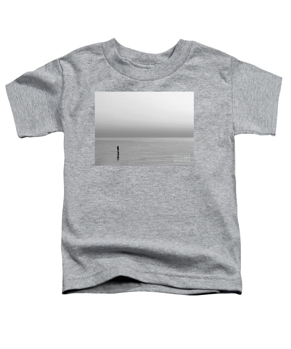 Lake Toddler T-Shirt featuring the photograph One Man by Dana DiPasquale