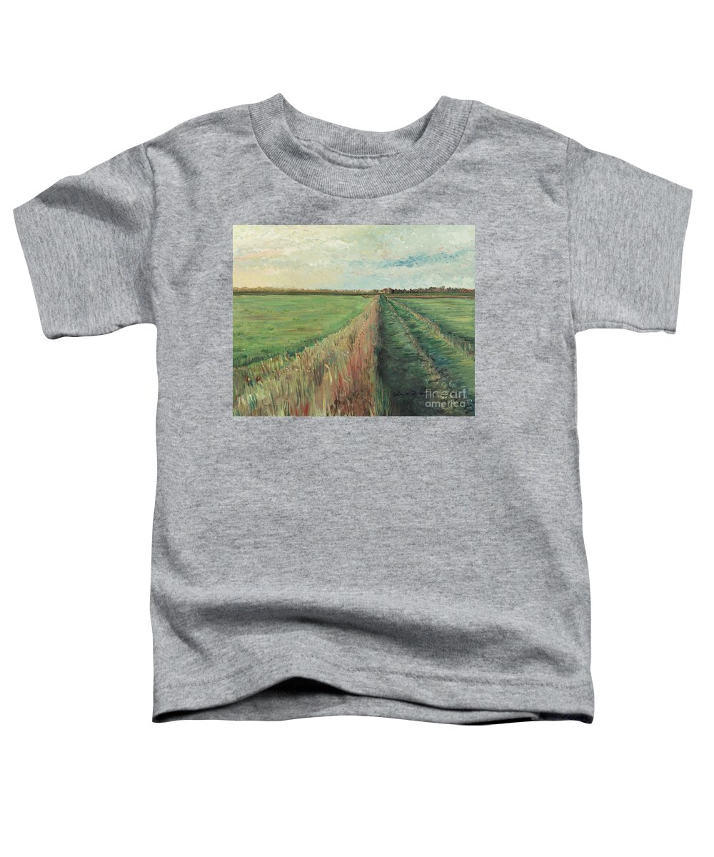 Provence Toddler T-Shirt featuring the painting Provence Villa by Nadine Rippelmeyer