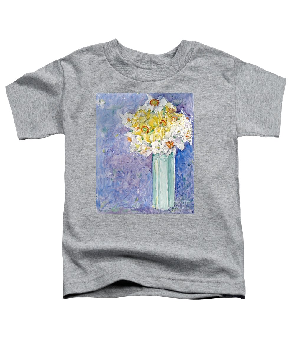 Watercolor Toddler T-Shirt featuring the painting Spring Blossoms by Jan Bennicoff
