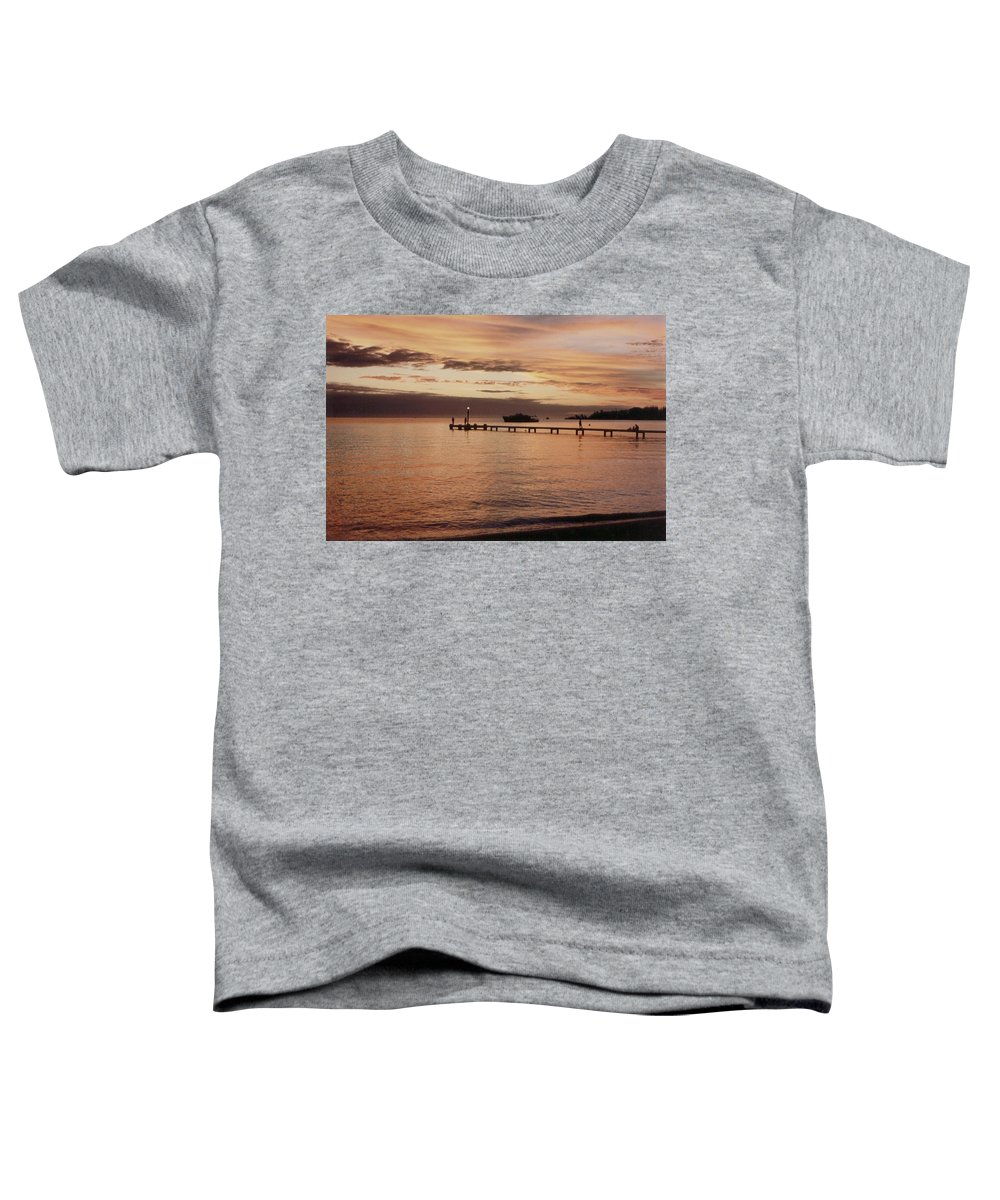 Sunset Toddler T-Shirt featuring the photograph Sunset In Paradise by Mary-Lee Sanders