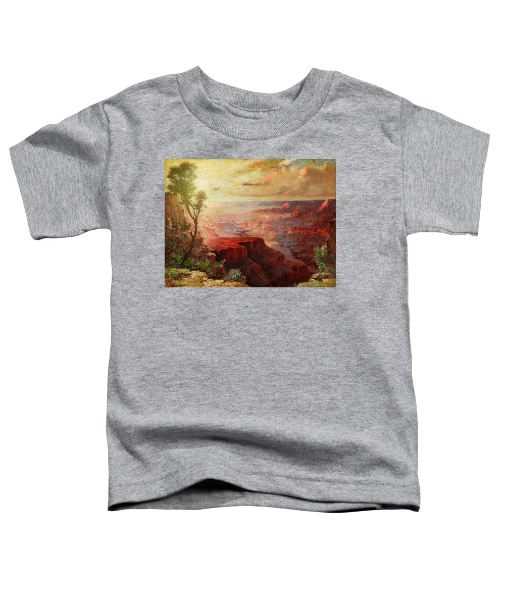 Elliott Daingerfield Toddler T-Shirt featuring the painting The Grand Canyon 1 by Elliott Daingerfield