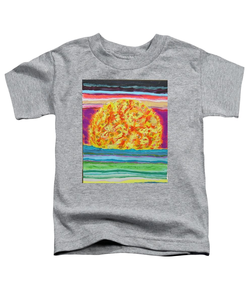 Hot Toddler T-Shirt featuring the painting The Sun Drinks The Ocean And Eats The Sky by James Campbell