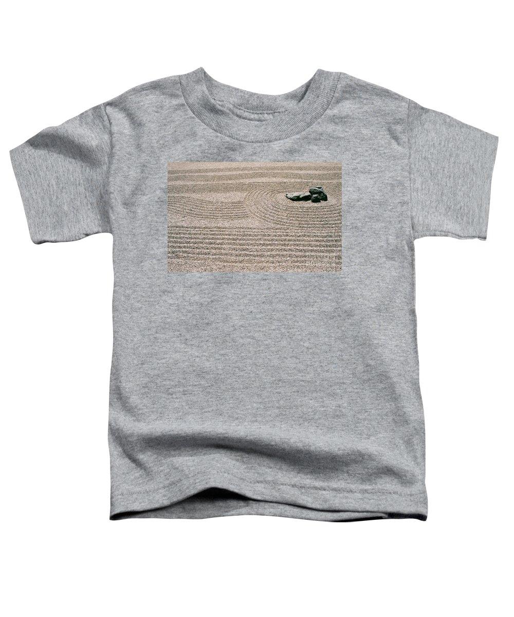 Zen Toddler T-Shirt featuring the photograph Zen Garden by Dean Triolo