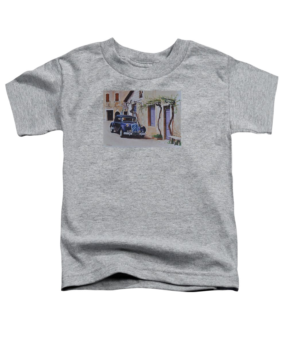 Classic Cars Toddler T-Shirt featuring the painting 1951's Citroen by Iliyan Bozhanov