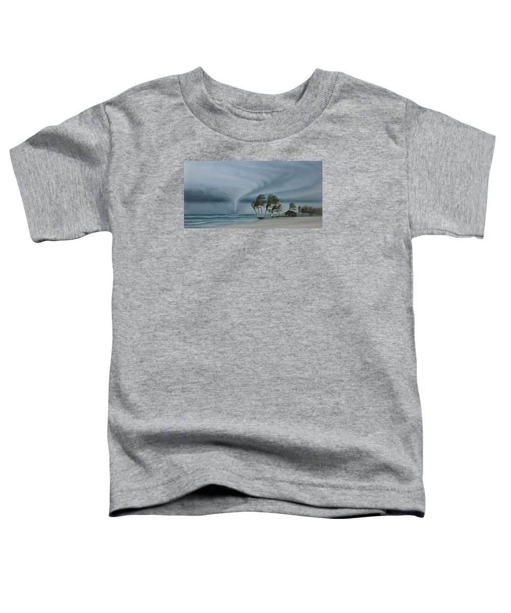 Toddler T-Shirt featuring the painting Mahahual by Angel Ortiz
