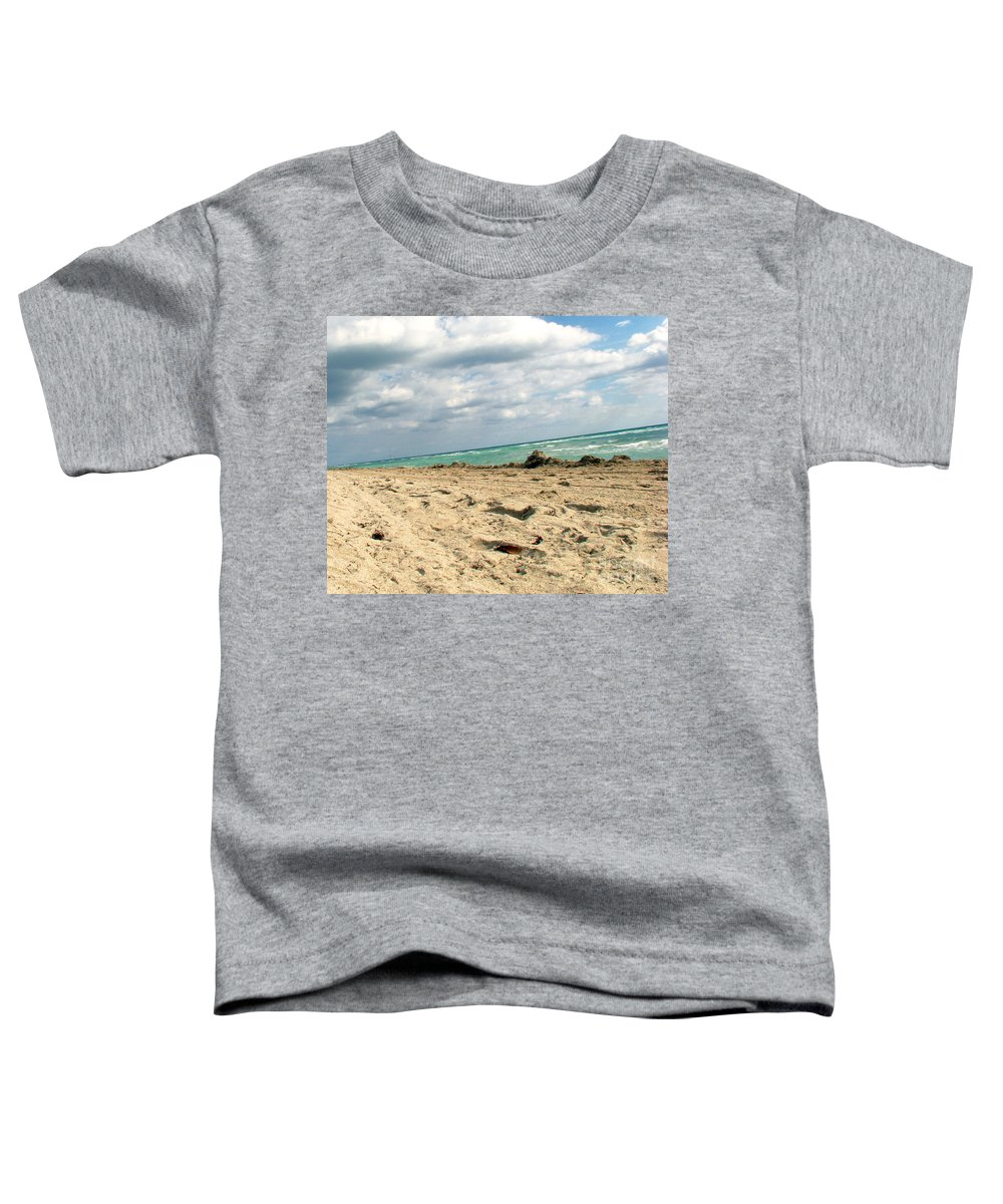 Miami Toddler T-Shirt featuring the photograph Miami Beach by Amanda Barcon