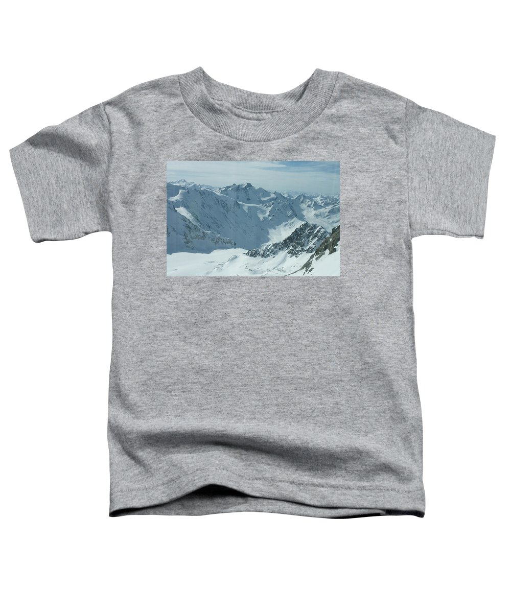 Pitztal Glacier Toddler T-Shirt featuring the photograph Pitztal Glacier by Olaf Christian